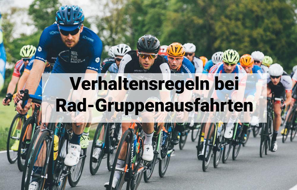 Wichtige Verhaltensregeln bei Rad-Gruppenausfahrten