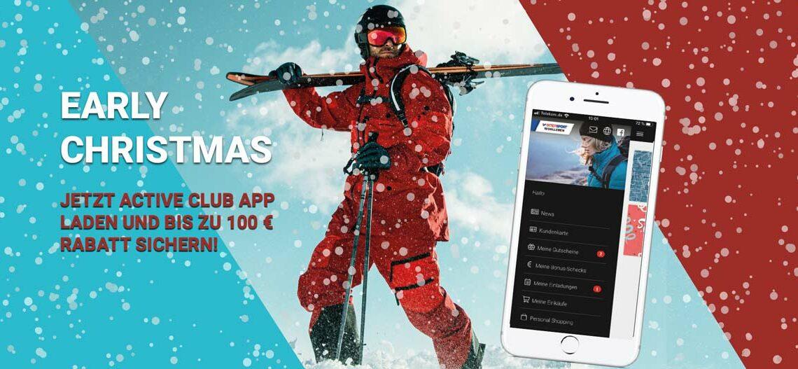 Nicht vergessen! Sicher Dir bis zu 100 € Early Christmas Rabatt.