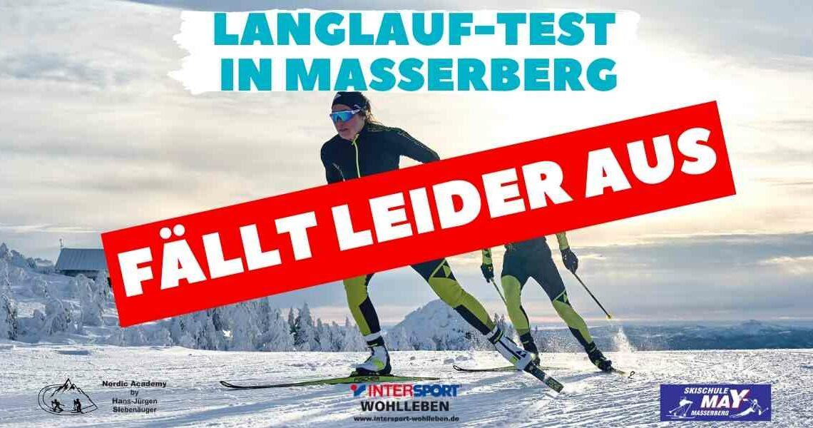 Langlauf-Test am 12.01.20 fällt aus