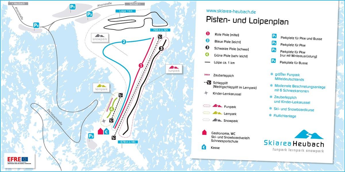 Pistenplan Skiarea Heubach Übersicht