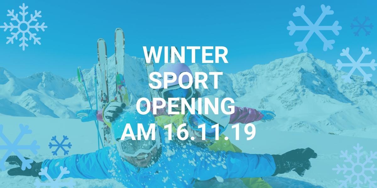 Großes Wintersport Opening am 16.11.19