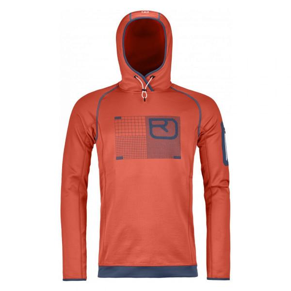 Herren Kapuzenpullover Fleece Logo Hoodie Merino