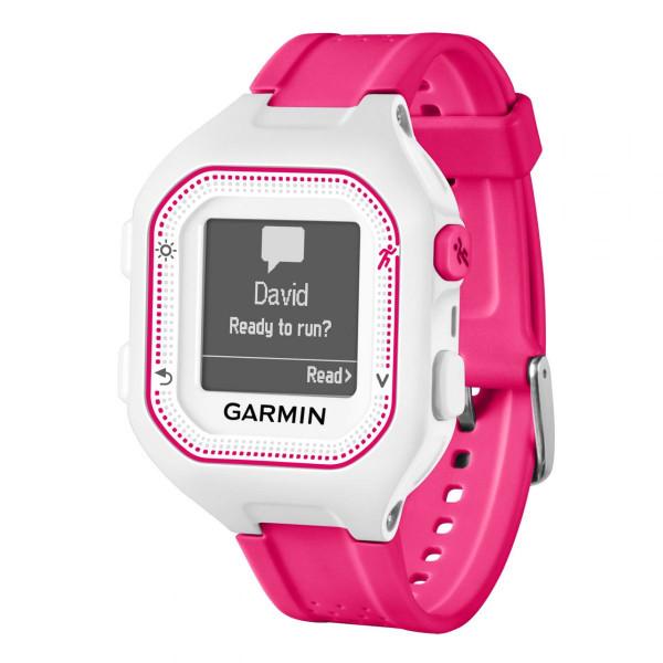 GPS-Multisportuhr Forerunner 25 weiß/pink