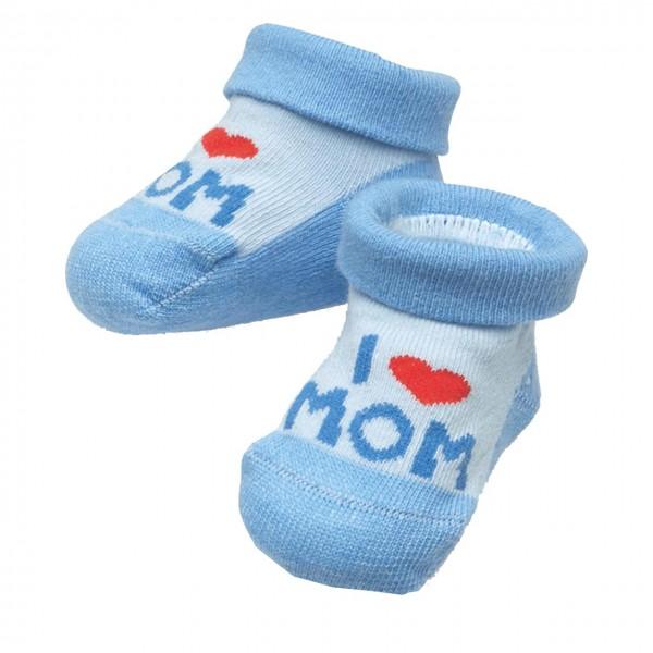 Baby Socken I Love Mom in Herzbox