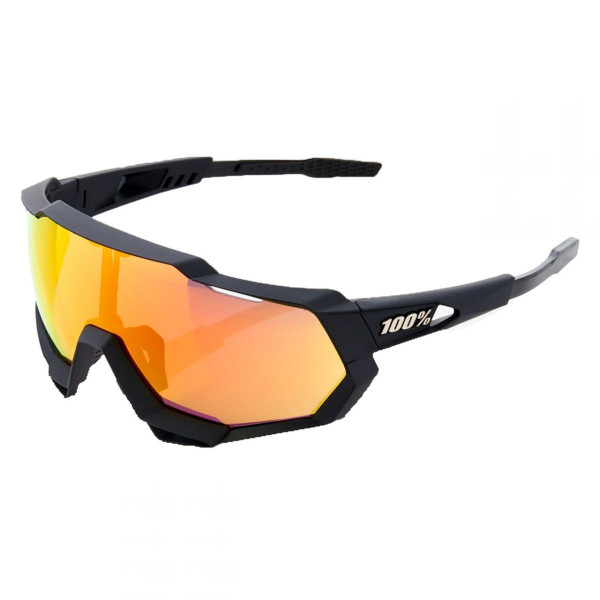 Sportbrille Speedtrap HD Multilayer Mirror Lense Soft Tact Black