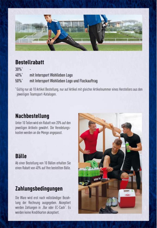 Teamsport Konditionen bei Intersport Wohlleben