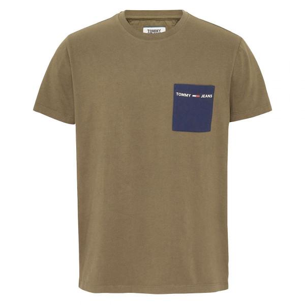Herren T-Shirt Contrast Pocket Tee