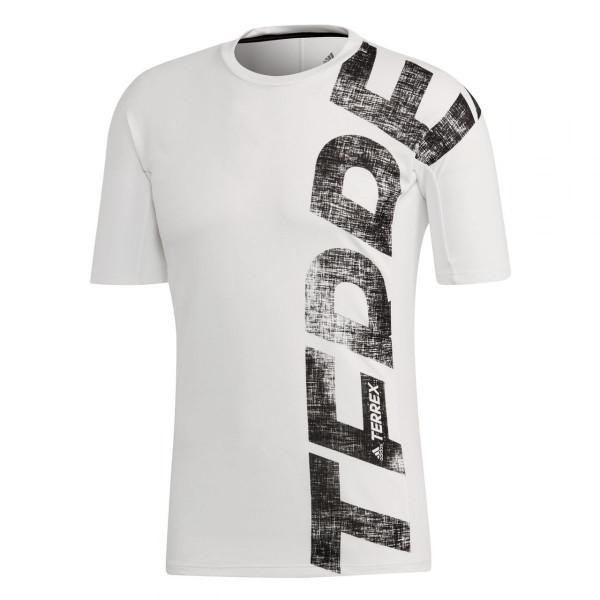 Herren Laufshirt Trail Cross MTB Shirt White