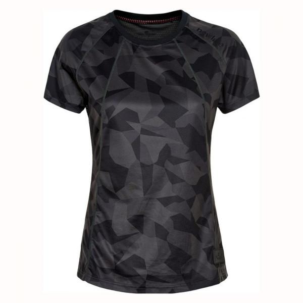 Damen Laufshirt Black Camo Airflow Tee
