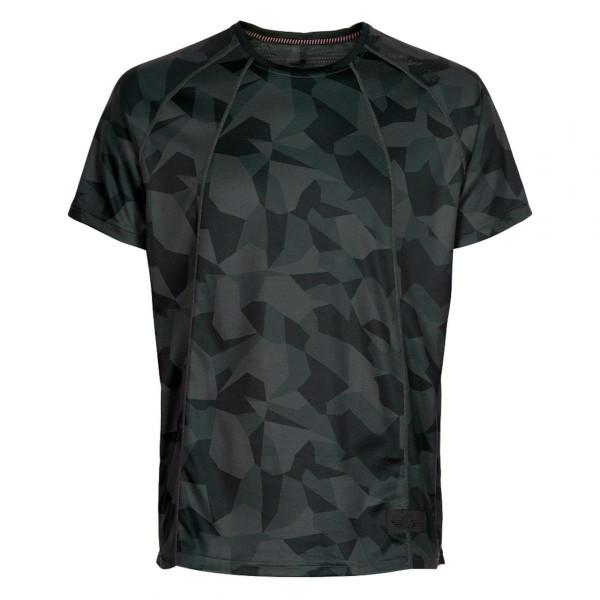 Herren Laufshirt Black Camo Airflow Tee T-Shirt
