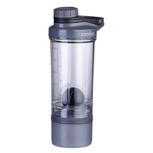 Fitnessshaker Shake & Go Fit + Compartment Black 650ml