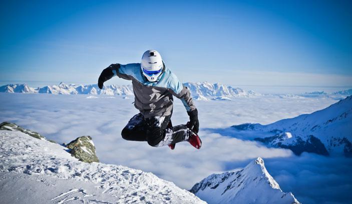 Sled Dogs Snowsaktes fahren