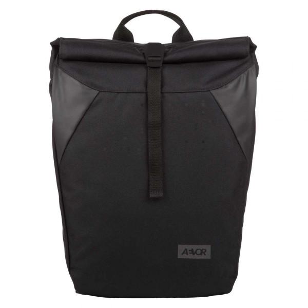 Daypack Rolltop Rucksack schwarz