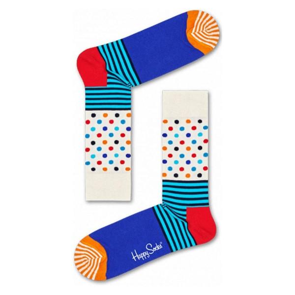 Socken Stripes Dots Bunt