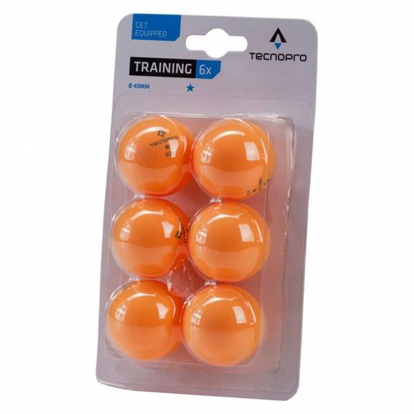 Tischtennisbälle 1 Stern Training 6er Pack