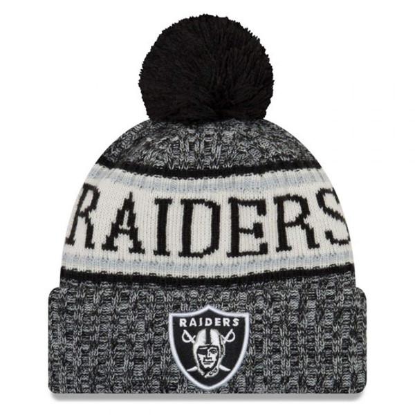 Herren Mütze Oakland Raiders 2018 NFL Cold Weather Knit