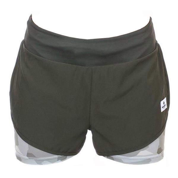 Damen Laufhose 2 in 1 Shorts