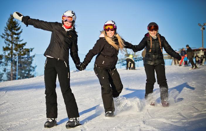 Snowskates fahren Anfänger
