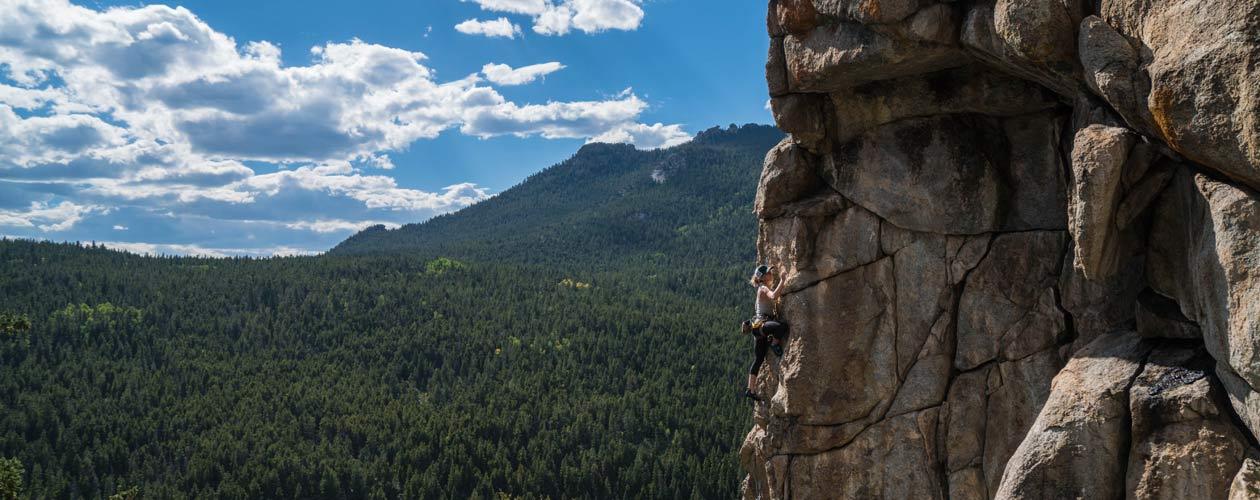 Klettern am Fels, ausgesetzt Klettern