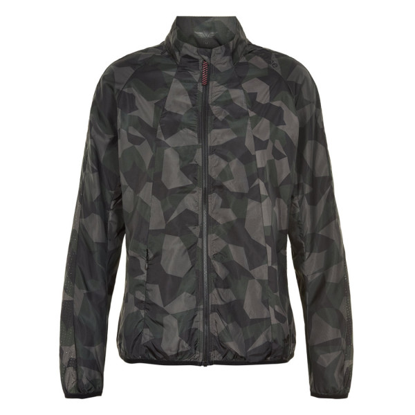 Herren Laufjacke Black Camo Windshield Jacket